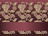 vector frame for your text on  seamless hand drawn paisley