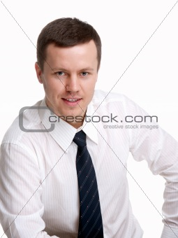 man on an isolated background