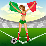 Italy girl soccer fan