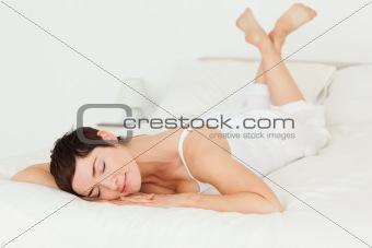 Calm woman posing