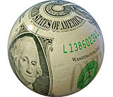 concept - Globe made of dollar banknotes