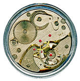 watchwork  mechanism of  clock