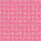 hand draw cake seamless pattern