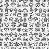 hand draw weather seamless pattern