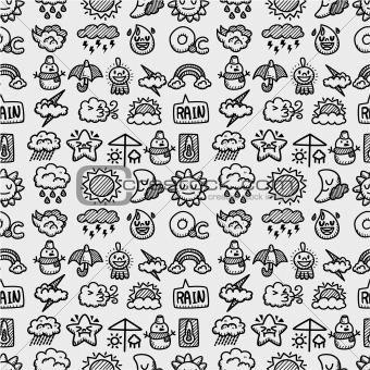 hand draw weather seamless pattern