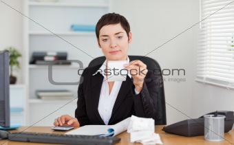 Office worker doing accountancy