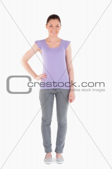 Attractive woman posing while standing