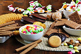 collection of candies and crackers