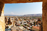 Goreme, Capadocia, Turkey from hotel window