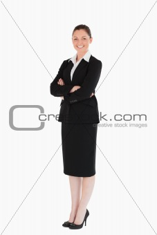 Attractive female in suit posing