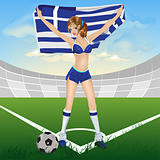 Greece girl soccer fan