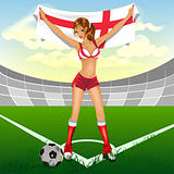 English girl soccer fan