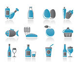 Food, drink and Aliments icons