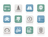 Road, navigation and traffic  icons