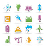 Power and electricity industry icons