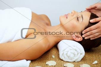 Massaging head
