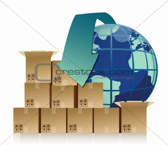 global business commerce concept illustration design
