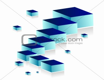 3d building blocks illustration design over a white background