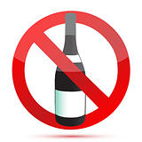 No alcohol sign illustration design over a white background