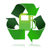 eco fuel recycle illustration design over a white background