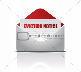 Eviction notice letter illustration design over white
