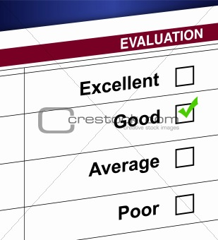 Evaluation list and check box illustration design