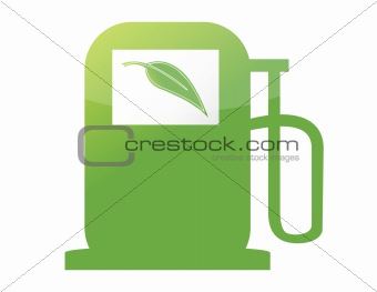 green gas pump illustration design over a white background