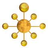 Global wealth illustration design over a white background