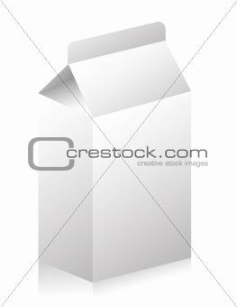 Blank paper carton for milk or fruit juice illustration