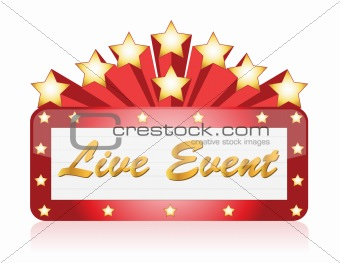 Live event red Star Neon theater / Movie Sign