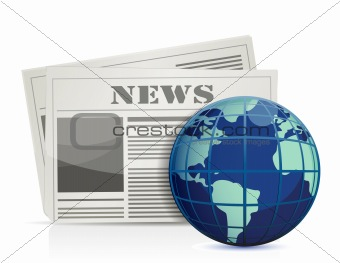 international news illustration design over white