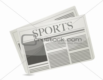 Sports newspaper illustration design over a white background