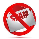 No more spam concept illustration design over white
