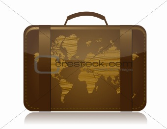 travel luggage illustration concept over white