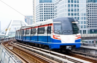 Sky train in Bangkok