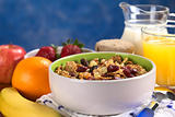 Wholewheat Cereal with Dried Fruits and Nuts