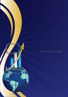 global business growth bar graph background design illustration