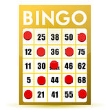 winner yellow bingo card illustration isolated over a white background
