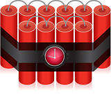 Countdown Time Bomb - Dynamite illustration design isolated over white