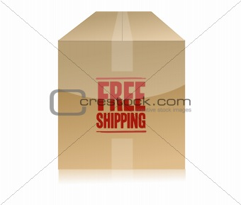 free shipping box illustration design isolated over a white background