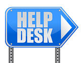 helping road sign support desk illustration isolated over white