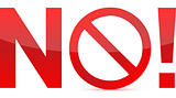 No/Not Allowed Sign illustration design isolated over a white background