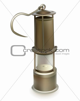 old miner's lamp