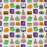 cartoon Finance &amp; Money seamless pattern