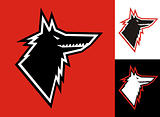 Wolf head icon