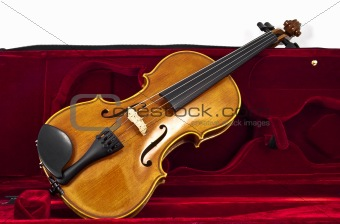 Italian wooden Violin in case box