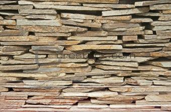Arranged flat stones