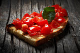 Italian bruschetta-toasted bread