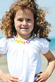 little female  child portrait on the beach