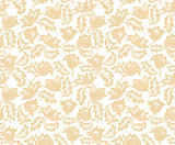 Seamless flowers pattern. Wallpaper